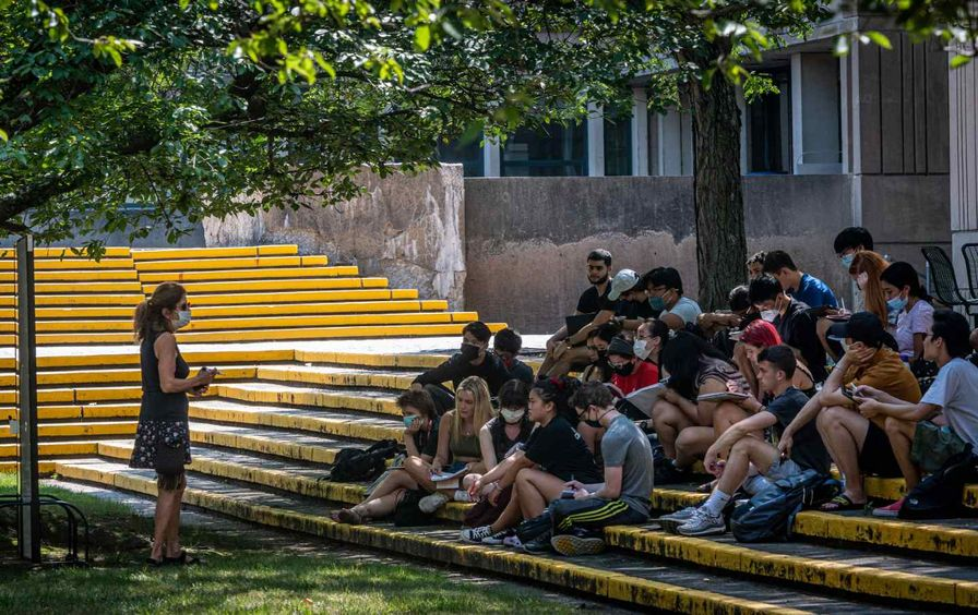As the Pandemic Continues, College Students Return to a Different Campus